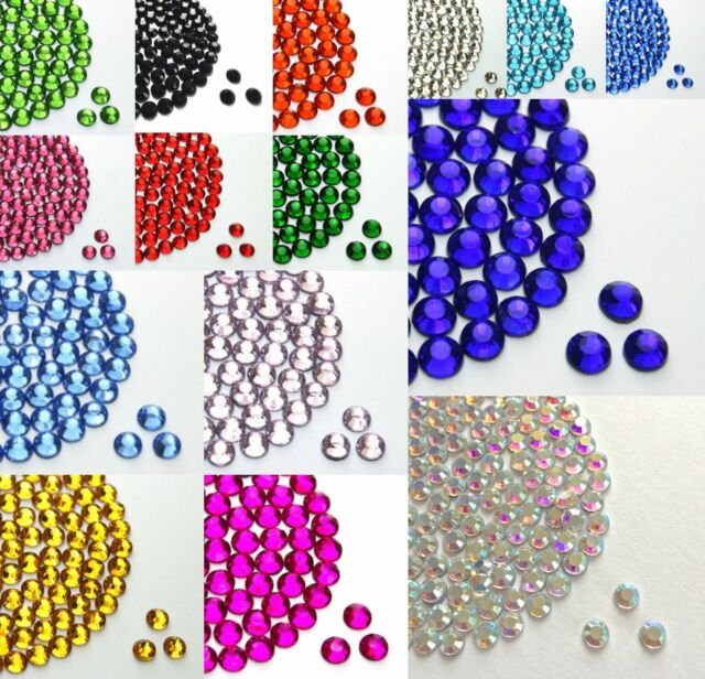 Forest Green 1000pcs Resin Rhinestones Beads Flat Back Nail Art Craft Gems