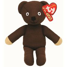 "Official Mr Bean Teddy Bear Beanie - Retro TY Baby Teddie 8"" TV Gift Soft Toy"