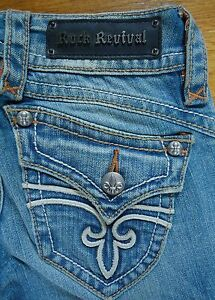 Femme Stephanie Jeans Rock Boot Taille Revival Nwot 26x33 UaqX7ZU