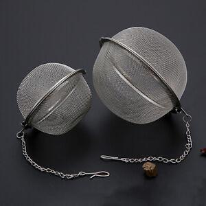 KE_ New Stainless Steel Ball Tea Strainer Infuser Mesh Filter Loose Leaf Spice