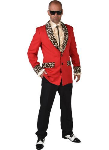 Teddy Boy Leopard Print XXL Rockabilly XS Showman JACKET Red