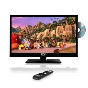 pyle 23 6 led tv hd flat screen tv with built in dvd player tv wall mount ebay. Black Bedroom Furniture Sets. Home Design Ideas