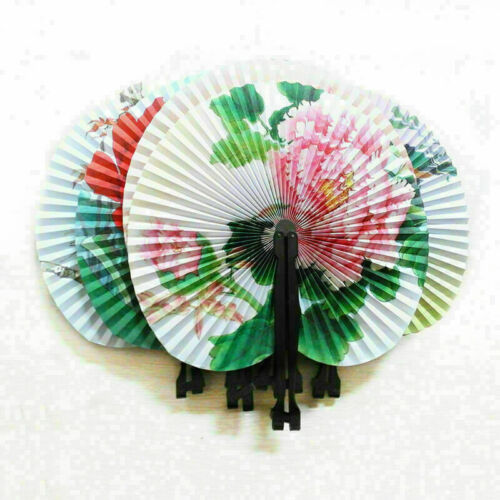 Hand Held Mini Folding Chinese Style Paper Fans Wedding Party Gif For-Women Y6L6