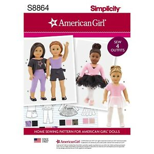 SEWING-PATTERN-MAKE-DOLL-DANCE-CLOTHES-BALLET-MODERN-AMERICAN-GIRL-DESIGNS