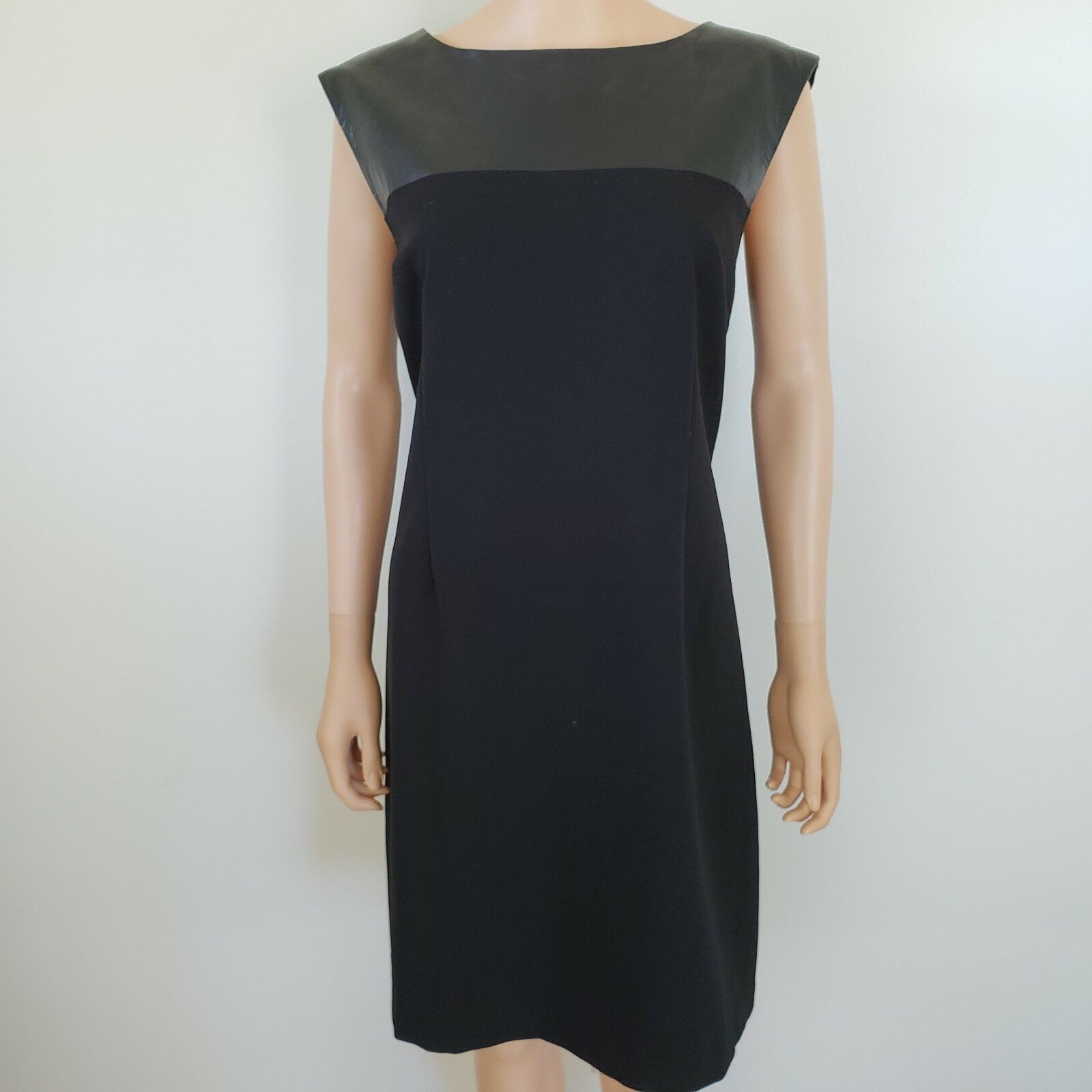Laundry by Design Sheath Dress Faux Leather Size 14