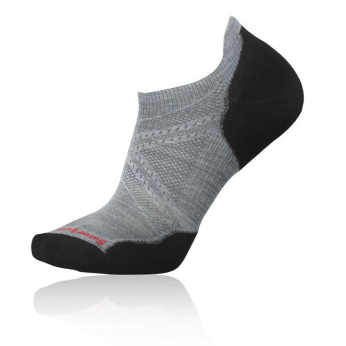 SmartWool Mens Smartwool PhD Run Light Elite Micro Socks Black Grey Sports
