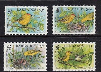 7596 Maximumkarten 100% Wahr Barbados Fdc 1991 Wwf Naturschutz 770-73 **