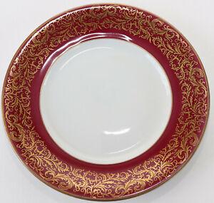 Plato Reichenbach Barroca Colección Porcelana Pasteles Repuesto Kobaltrot Oro