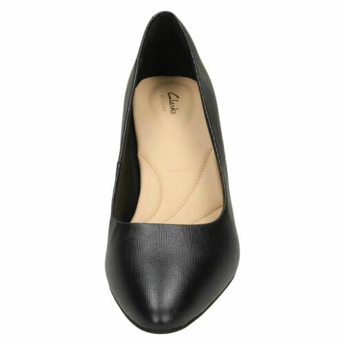 Suede Court Shoes Details about  /Ladies Clarks Textured Leather Calla Rose