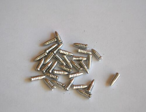 10 SETS OF BULLET STYLE ALLOY FLIGHT PROTECTORS SILVER