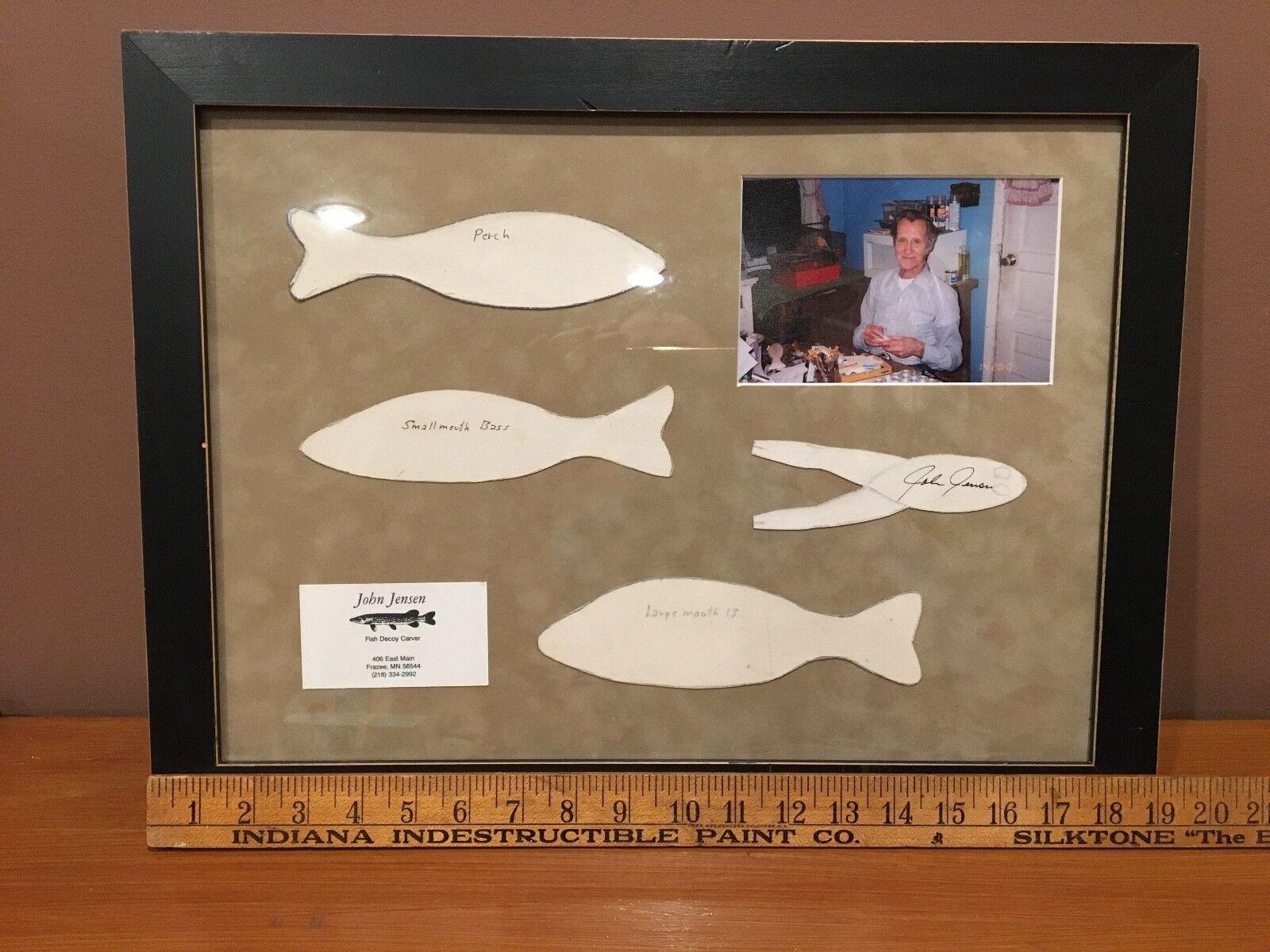RARE signed w  picture John Jensen Frazee Minnesota Fish Decoy picture patterns