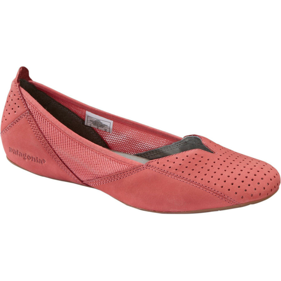 PATAGONIA Maha LEATHER BALLET Perf FLAT Slip-On LEATHER Maha Breathe SHOE Coral PINK Donna sz df4c73