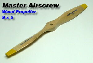 Magasiner Pour Pas Cher Master Airscrew Rc Model Wood Series 9 X 5 R/c Airplane Propeller Pm709