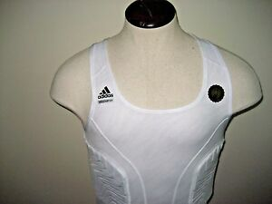 339d763a56eb5 Adidas NBA Basketball Techfit Mens Padded Tank Top White Size 2XLT ...