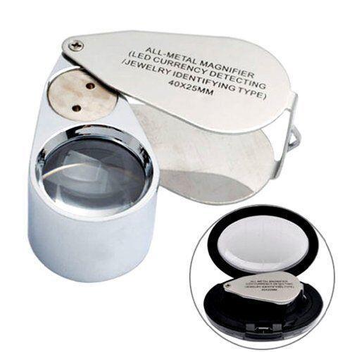 Le gioiellerie in METALLO UV LED ingrandimento Loupe Loop occhio di vetro uso per rottami d'oro #29