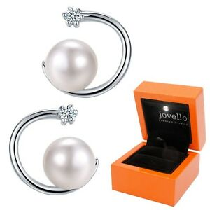 Perlen-Zirkonia-Ohrstecker-aus-925-Silber-Sterlingsilber-exklusiver-LED-Box