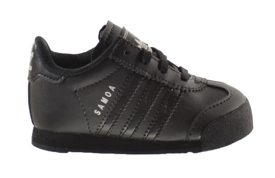 Adidas Samoa i infantil zapatos Core negro / CORE negro / plata metalizado