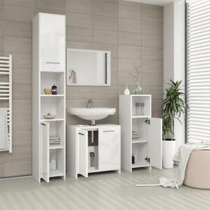 Details zu VICCO Badmöbel Set KIKO Weiß hochglanz - Spiegel Unterschrank  Badschrank