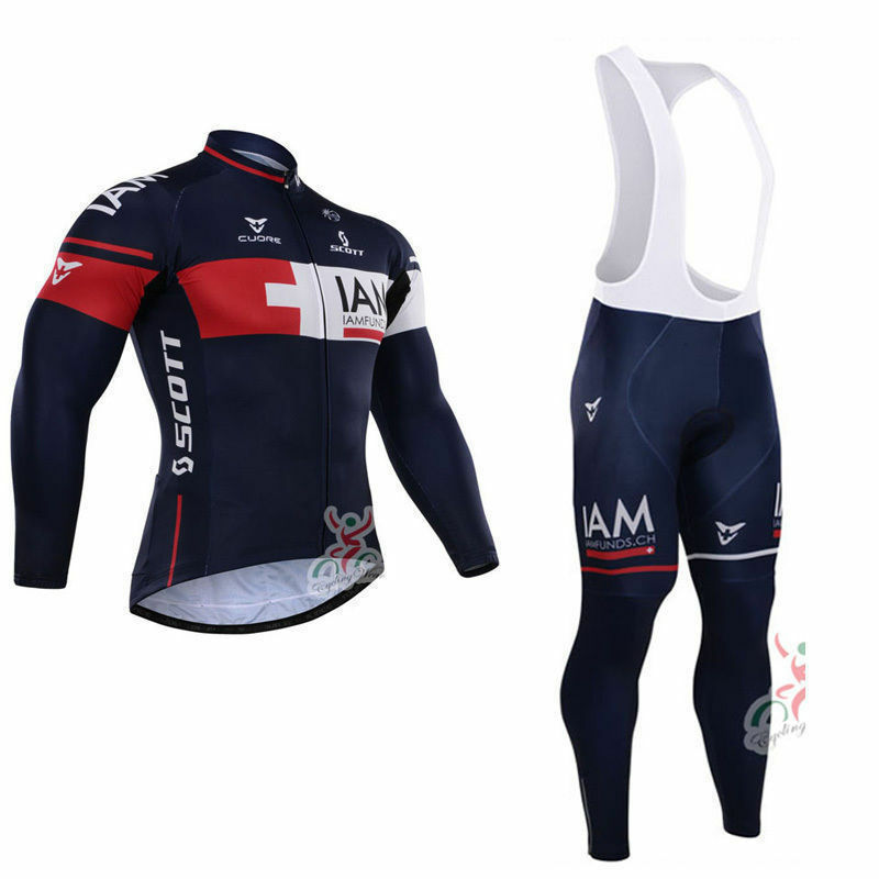 Mens Cycling long sleeve jersey cycling jerseys and bib pants cycling pants v36