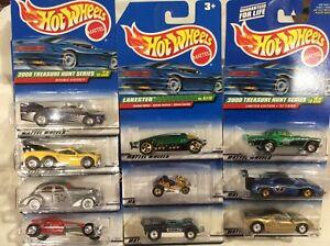 Cars, Trucks & Vans Hot Wheels Treasure Hunt 2001 Regular & International Card Your Choice NIP