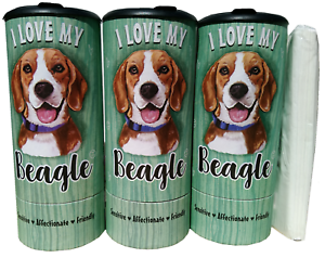 85002 I Love my Beagle Refillable Tissue Tube with 1 Refill package