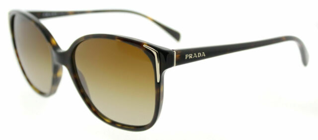 6f70c8b149a New Prada PR 01OS 2AU6E1 Havana Plastic Sunglasses Brown Gradient Polarized  Lens