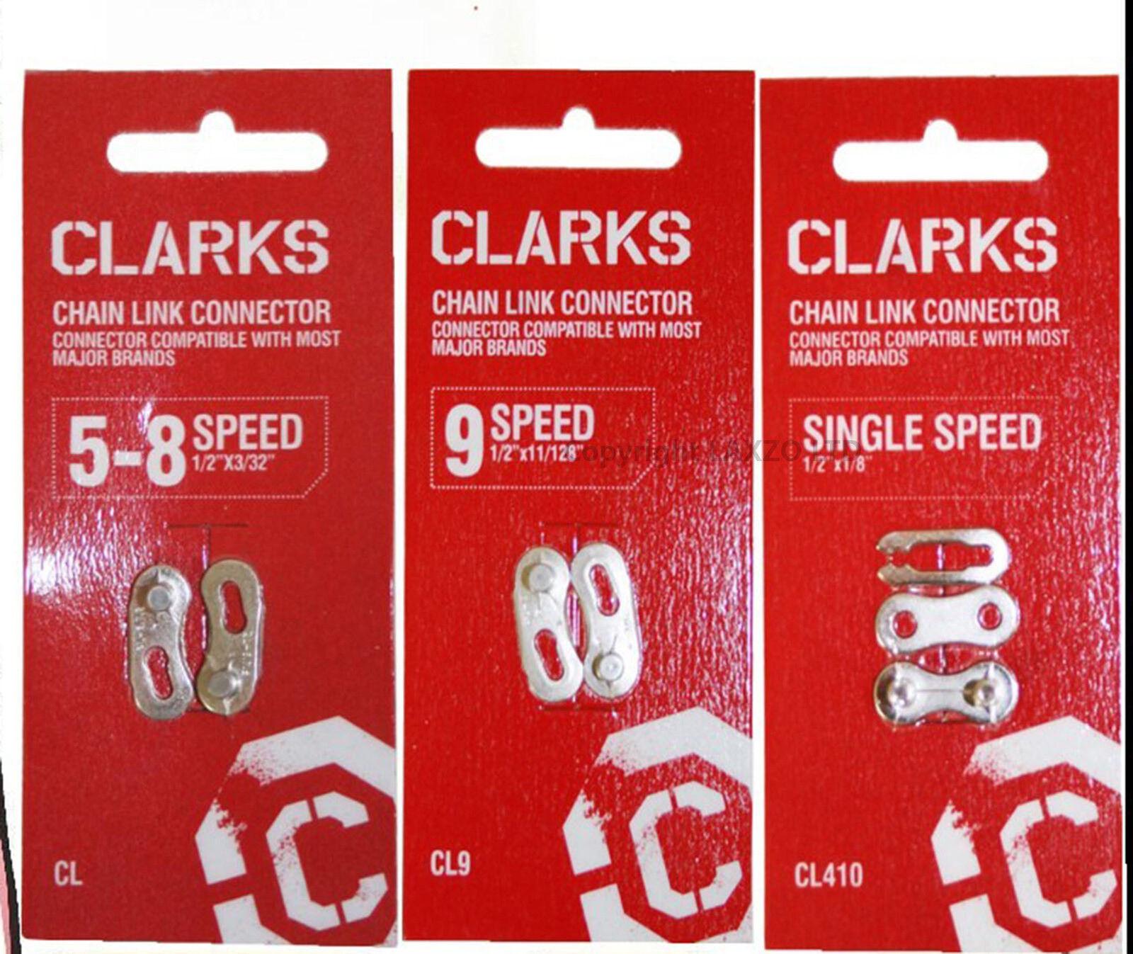 Clarks Bicicleta Eslabón Eslabón Eslabón Cadena Conector 5 8 9 & una Velocidad 1 2