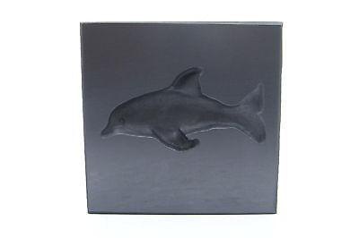 Graphite Glass Lampwork 3D Dolphin Push Mold 3x3