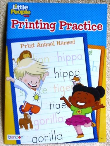 Little People Fisher Price Printing Practice Workbook Homeschool Daycare NEW