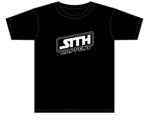 FUNNY STAR WARS T-SHIRT DARTH VADER SITH HAPPENS TSHIRT ASST COLOURS 0-11 YEARS