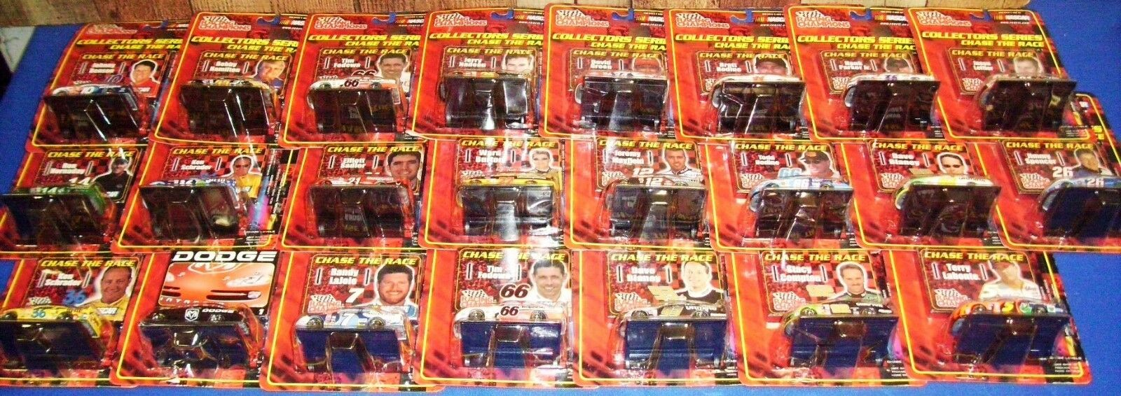 2001 RACING CHAMPIONS  CHASE THE RACE  23 CAR LOT NASCAR Diecast 1 64