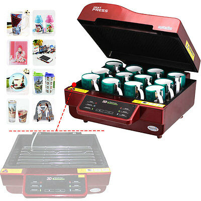 3D Vacuum sublimation heater press machine Heat Transfer to a phone/plate/mug