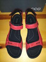 $120 Womens Ecco Kana Sandal Chili Red Eur 41 Us 10 10.5