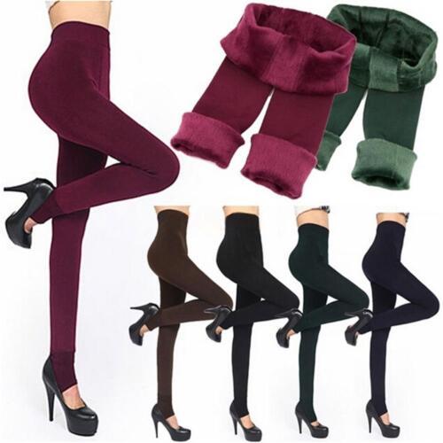 Frauen Winter Warme Thermische Dicke Fleece Gefüttert Pelz Engen Leggings Hose
