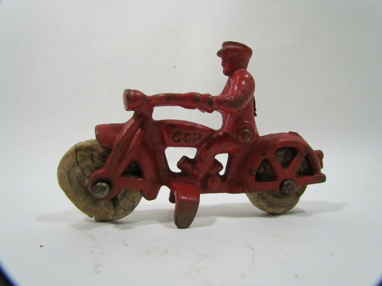 Antique Hubley Cast Iron Cop Motorcycle