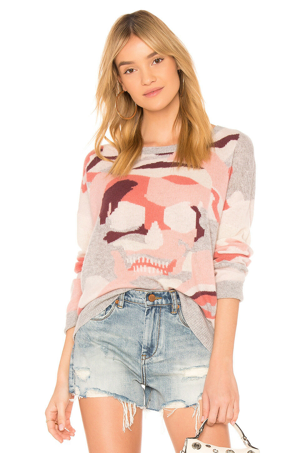 NWT Skull Cashmere Arden Camo Skull Cashmere Sweater Sunkissed Size XS,S,M