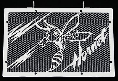 "Ruimdenkende Cache / Grille De Radiateur Inox Poli 600 Hornet 07>14 ""frelon V2"" + Grill.blanc"