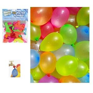 60-WATER-BALLOONS-BOMB-BOMBS-KIDS-TOY-SUMMER-FUN-GARDEN-PARTY-BAG-FILLER-BALLOON