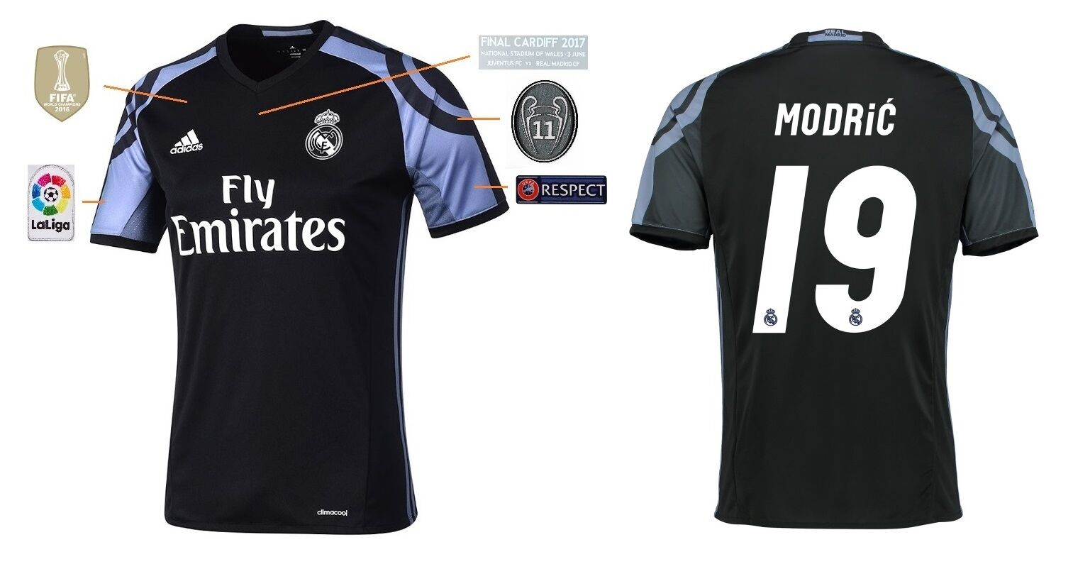 Trikot Real Madrid Third Champions League Final Cardiff 2017 - Modric