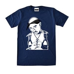 56c9a3369ff8 Tupac Shakur 2Pac T-Shirt To Match Retro Jordan 11 Midnight Navy Win ...