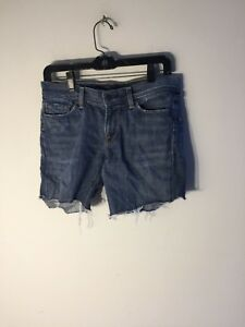 Citizens-of-Humanity-Low-Waist-Flair-womens-size-28-denim-jean-shorts-distressed