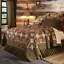 FARMHOUSE COUNTRY PRIMITIVE TEA CABIN PATCHWORK QUILTED BEDDING COLLECTION