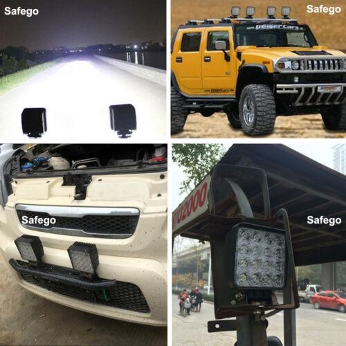 Safego 1X 48W LED WORK LIGHT Flood driving fog offroad 4X4 truck boat ATV jeep