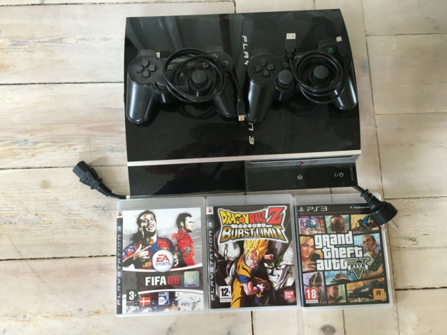 Playstation 3, Perfekt, Playstation 3 med, 2 kontrollere,…
