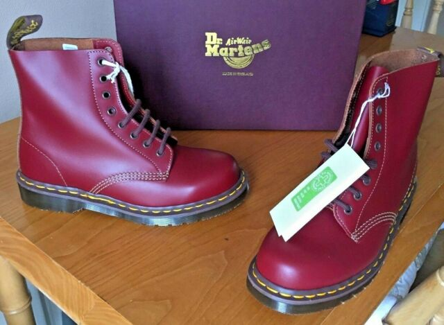cfb6773016e Dr Martens 1460 oxblood red quilon leather boots UK 10 EU 45 Made in England