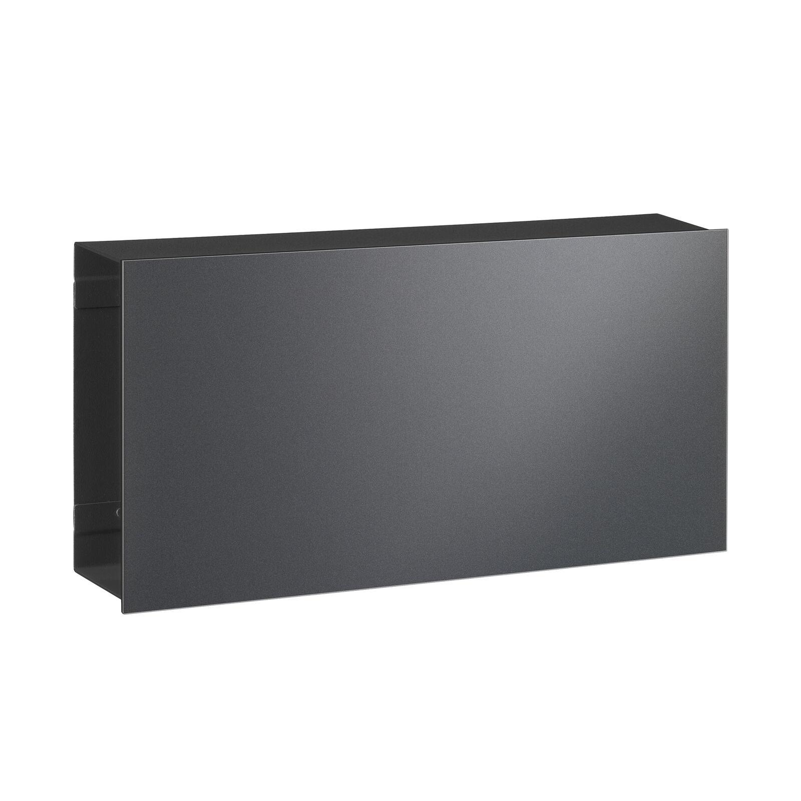 Serafini Flat Zeitungsfach Glas grau      grau 30,7 x 9,4 cm, h 16,1 cm