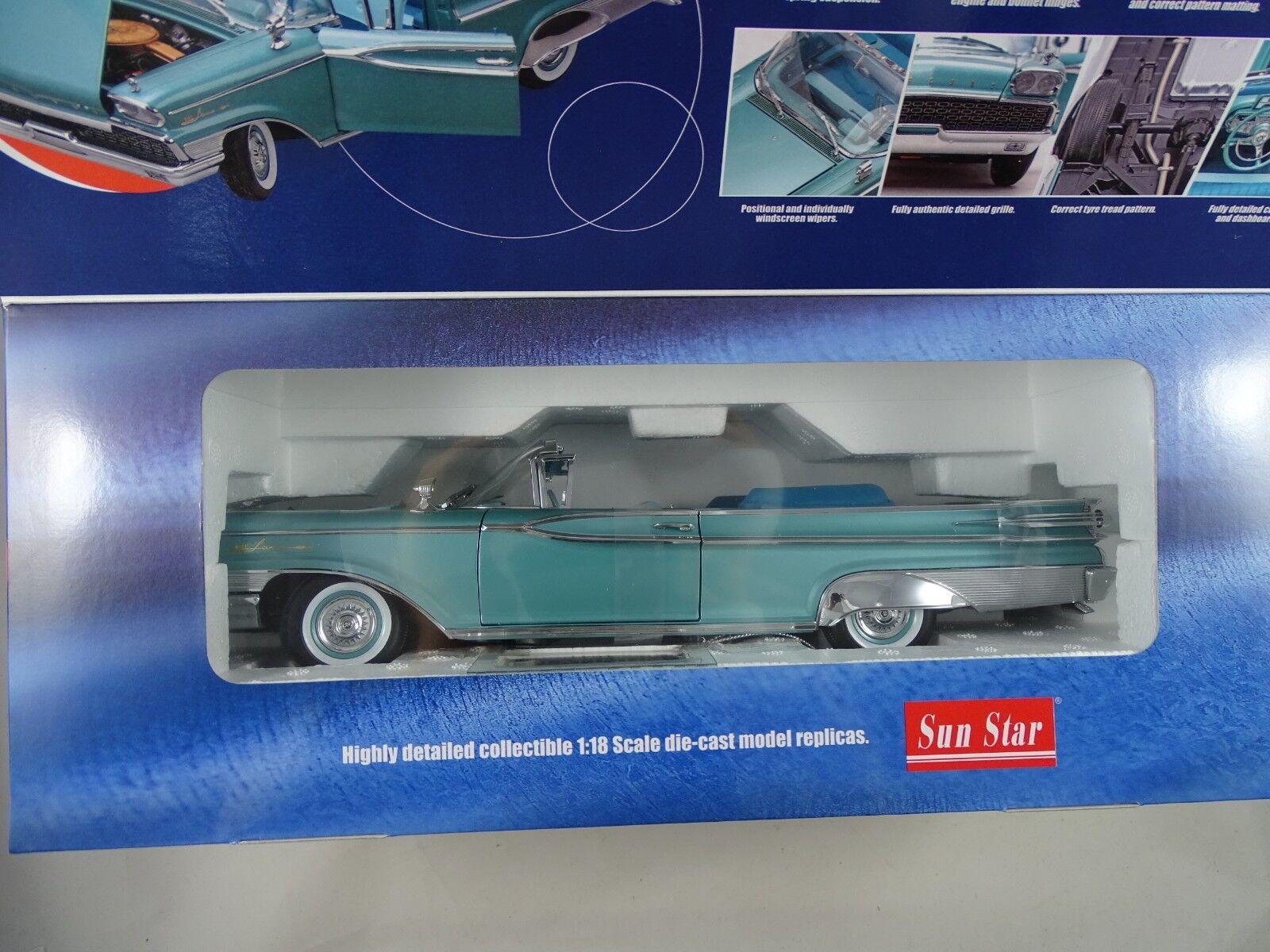 1:18 SUN STAR PLATINUM  5151 1959 Mercury Parklane Convertible Turchese-rarità