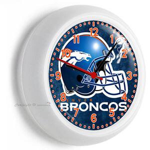 Denver Broncos Nfl Football Team Logo Wall Clock Man Cave