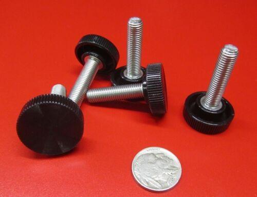 "Plastic Black Stainless Thumb Screw 1/"" Head Dia 5 Pc 5//16/""-24 x 1 1//4/"" Length"