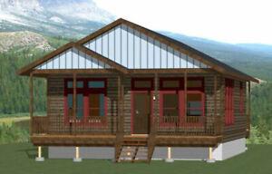 Details about 28x30 House -- 1 Bedroom 1 Bath -- PDF Floor Plan -- 840 sq  ft -- Model 1